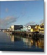 Fishermans Wharf In Monterey Bay Metal Print
