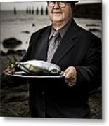 Fishing And Consumption Metal Print