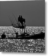 Fishing Friends Metal Print