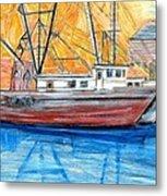 Fishing Trawler Metal Print