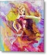 Flamenco Dancer Metal Print