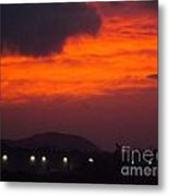 Flaming Sunrise II Metal Print