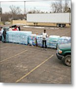 Flint Bottled Drinking Water Distribution Metal Print