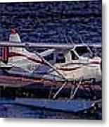Float Plane Dock Metal Print