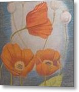Floating Flowers Metal Print