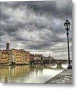 Florence Old Bridge Metal Print