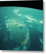 Florida From Space Metal Print