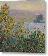 Flower Beds At Vetheuil Metal Print