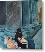 Flower Lady Of The Pantheon Metal Print