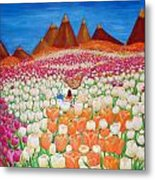 Flowers And Fields Alive With Thy Joy Metal Print