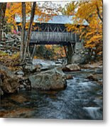 Flume Gorge Covered Bridge Metal Print