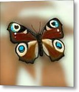 Fly Butterfly Metal Print