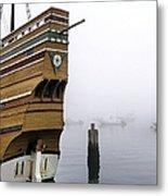 Foggy Harbor Metal Print