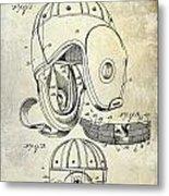 1927 Football Helmet Patent Metal Print