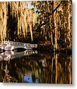 Footbridge Over Swamp, Magnolia Metal Print