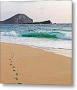 Footprints To The Ocean Metal Print