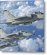 Formation Of Italian Air Force Amx-acol Metal Print