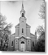 former st josephs catholic church in Forget Saskatchewan Canada Metal Print