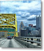 Fort Pitt Bridge And Downtown Pittsburgh Metal Print