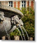 Fountain - Place Des Vosges Metal Print