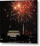 Fourth Of July Fireworks At Washington Dc Metal Print