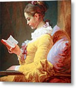 Fragonard's Young Girl Reading Metal Print