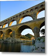 France, Avignon The Pont Du Gard Roman Metal Print