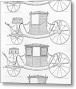 France Carriages, C1740 Metal Print