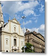 Franciscan Church Of Pest In Budapest Metal Print