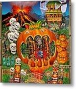 Freaky Tiki Tombs Metal Print