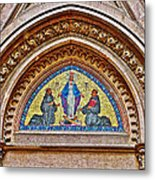 Fresco In Front Of Saint Anthony's Church In Istanbul-turkey  Metal Print