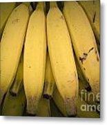 Fresh Bananas On A Street Fair In Brazil. Metal Print
