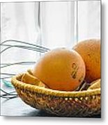 Fresh Eggs Just Laid Metal Print