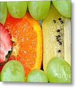 Fresh Fruit Mix Background Metal Print