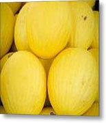 Fresh Melons On A Street Fair In Brazil Metal Print by Ricardo Lisboa