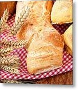 Freshly Baked Bread  Metal Print