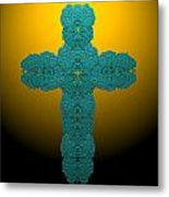 Frisbee Salt Cross 7 Metal Print