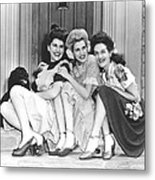 From Left, Maxene Andrews, Patty Metal Print