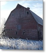 Frosty Barn Metal Print