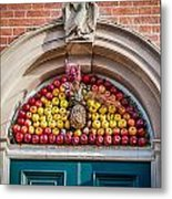 Fruit Door Covering Metal Print