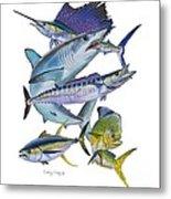 Gamefish Collage Metal Print