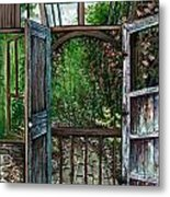 Garden Backyard Metal Print