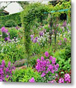 Garden Of Claude Monets House, Giverny Metal Print