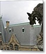Gargoyles On Roof Of Biltmore Estate Metal Print