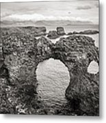 Gatklettur Arch In Hellnar Metal Print