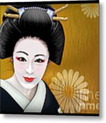Geisha Girl Metal Print