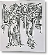 Gemini An Illustration Metal Print