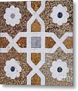 Geometric Designs On The Baby Taj Agra Metal Print