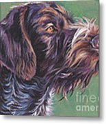 German Wirehaired Pointer Metal Print