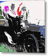Geronimo At The Wheel 1904 Locomobile Model C Touring Car On The 101 Ranch In Oklahoma 1905 Metal Print